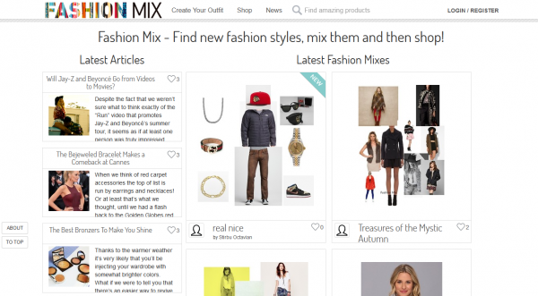Fashionmix - fashion and social media website
