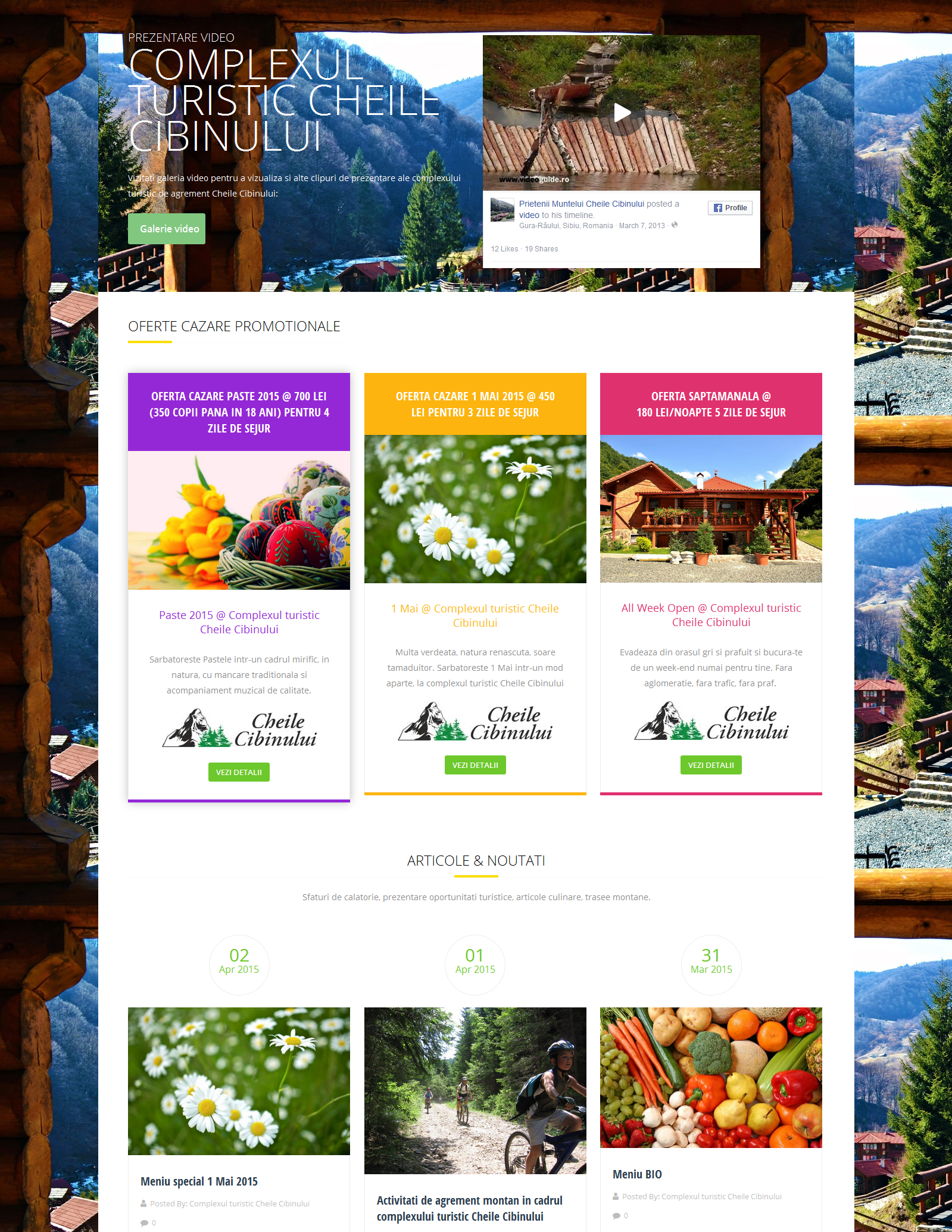 Complexul turistic Cheile Cibinului – dezvoltare website si servicii SEO